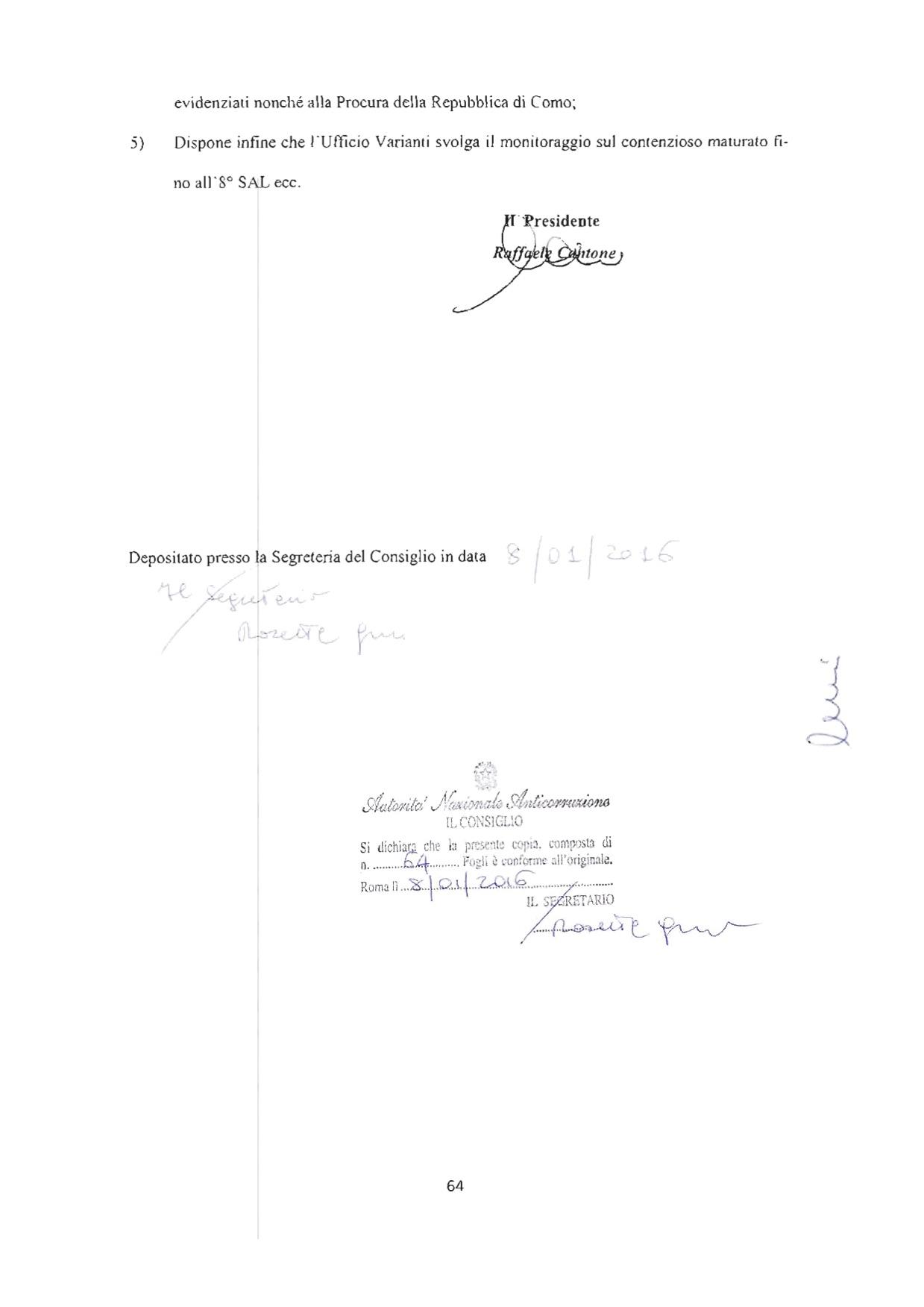 ANAC - Delibera finale pagina 64
